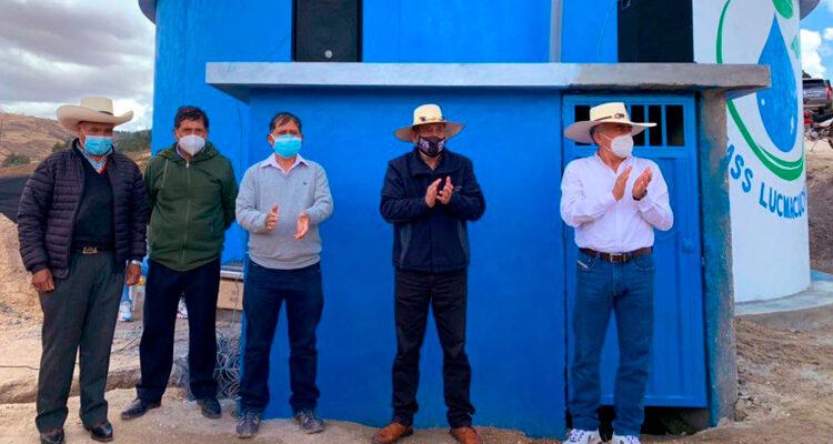 ¡Agua para los cajamarquinos! Inauguran reservorios en Shudal y Lucmacucho